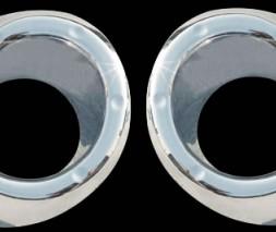 Накладки на задние противотуманки (2 шт, пласт) Toyota Highlander 2008-2013