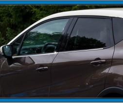Окантовка окон (4 шт, нерж) Renault Captur 2013