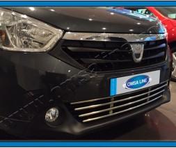 Решетка в бампер (нерж) Dacia Lodgy 2013