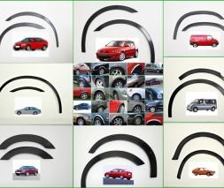 Накладки на арки (4 шт, черные) Peugeot 407