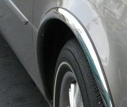 Накладки на арки (4 шт, нерж) Toyota Avensis 2003-2009