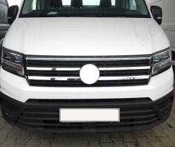 Накладки на решетку (4 шт, нерж) Volkswagen Crafter 2017