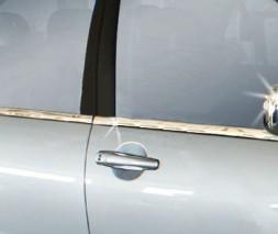 Наружная окантовка стекол (4 шт, нерж) Mitsubishi Lancer 9 2004-2008