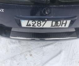 Накладки на задний бампер SW (Carmos, сталь) Volkswagen Passat B5 1997-2005