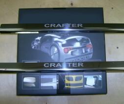 Накладки на пороги Laser (2 шт, сталь) Volkswagen Crafter 2006-2017