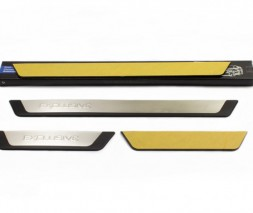 Renault Dokker Накладки на пороги Exclusive