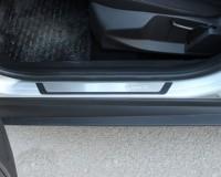 Mitsubishi Lancer X Накладки на пороги Exclusive