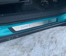 Toyota C-HR Накладки на пороги (4 шт) Sport