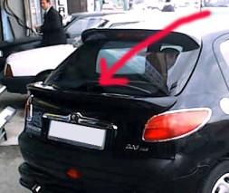 Спойлер (под покраску) Peugeot 206