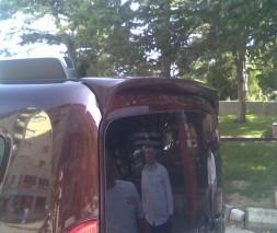 Fiat Doblo 2010 Спойлер на распашные двери