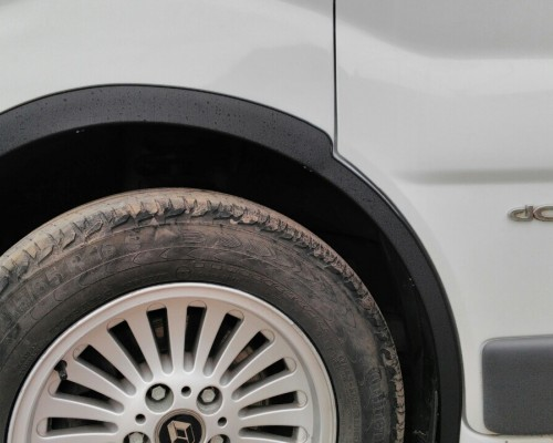 Renault Trafic 2001-2007 Накладки на колесные арки черные