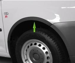 Volkswagen Caddy 2010-2015 Пластиковые накладки на арки черные (короткий, с 2 боковыми)