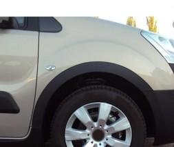 Peugeot Partner Tepee Металлические накладки на арки 2 боковые двери (черные)