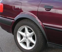 Накладки на арки (4 шт, черные) Audi 80/90 1987-1996