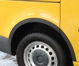 Накладки на арки (4 шт, черные) Chevrolet Lanos