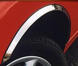 Накладки на арки (4 шт, нерж) Peugeot 206