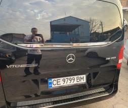Кромка заднего стекла (нерж) Mercedes Vito / V W447 2014