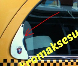 Хром треугольник на стекло (нерж.) Fiat Albea 2002