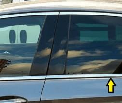 Окантовка стекол (8 шт, нерж) Opel Insignia 2017