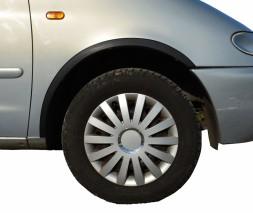 Накладки на арки (4 шт, черные) Jaguar X-Type