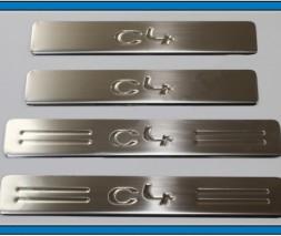 Накладки на пороги OmsaLine (4 шт, нерж.) Citroen C-4 Picasso 2006-2013