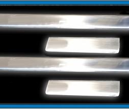 Накладки на пороги OmsaLine (4 шт, нерж) Seat Cordoba 2000-2009