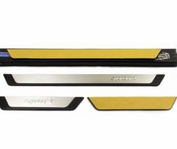 Пороги на карниз (Flexill, нерж) Chevrolet Lanos