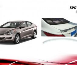 Спойлер Niken V1 (под покраску) Hyundai Accent Solaris 2011-2017
