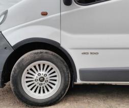 Renault Trafic 2001-2007 Накладки на колесные арки пластиковые