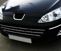 Цельно-нержавеющая Решётка (нерж.) Peugeot 407