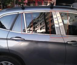 Молдинги дверных стоек (нерж.) 6 шт. BMW X1 E-84 2009-2015