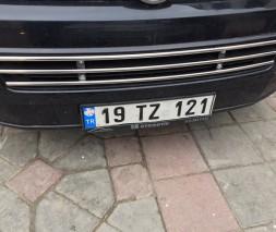Цельная решетка в бампер (нерж) Volkswagen Caddy 2010-2015