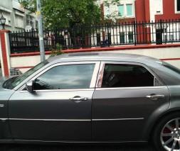 Молдинг дверных стоек (нерж.) Chrysler 300C