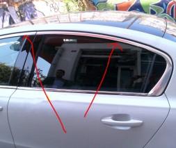Верхняя окантовка стекол (Sedan, нерж) Peugeot 508 2010-2018