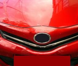 Накладки на решетку (нерж.) Toyota Yaris 2012