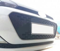 Окантовка решетки (3 шт, нерж) Hyundai I-20 2018
