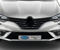Накладки на решетку радиатора (5 шт, нерж) Renault Megane IV 2016