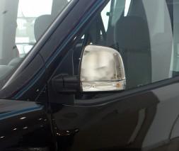 Opel Combo 2012 Накладки на зеркала Carmos хромированный пластик
