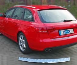 Audi A4 Avant 2009 Матовая накладка на задний бампер