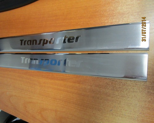 Накладки на пороги VIP (2 шт, сталь) Volkswagen T4 Transporter