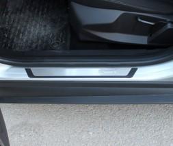 Накладки на пороги Flexill (4 шт, нерж) Toyota Auris 2012-2015