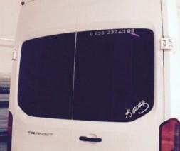 Спойлер Anatomik (под покраску) Ford Transit 2014
