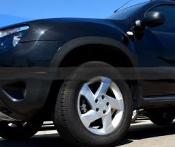 Расширители арок узкие (4 шт, мат) Renault Duster 2008-2017