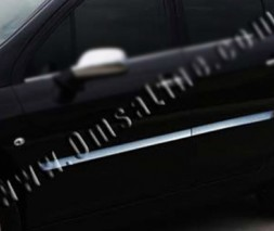 Молдинг дверной (4 шт, нерж) Peugeot 407