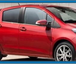 Окантовка стекол (4 шт, нерж.) Toyota Yaris 2012