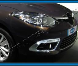 Окантовка туманок (2013, 2 шт, нерж) Renault Fluence 2009