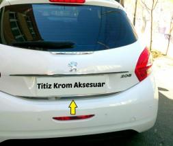 Кромка багажника (нерж.) Peugeot 208