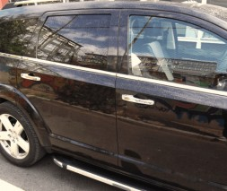 Окантовка стекол (6 шт, нерж.) Dodge Journey 2008