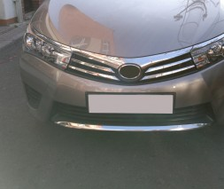 Накладки на решетку бампера (2013-2016, нерж.) Toyota Corolla 2013-2019