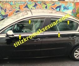 Полная окантовка стекол (Sedan, нерж) Peugeot 508 2010-2018